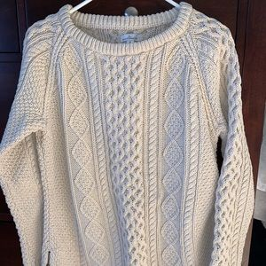 LL Bean Signature Cotton Fisherman Tunic Sweater